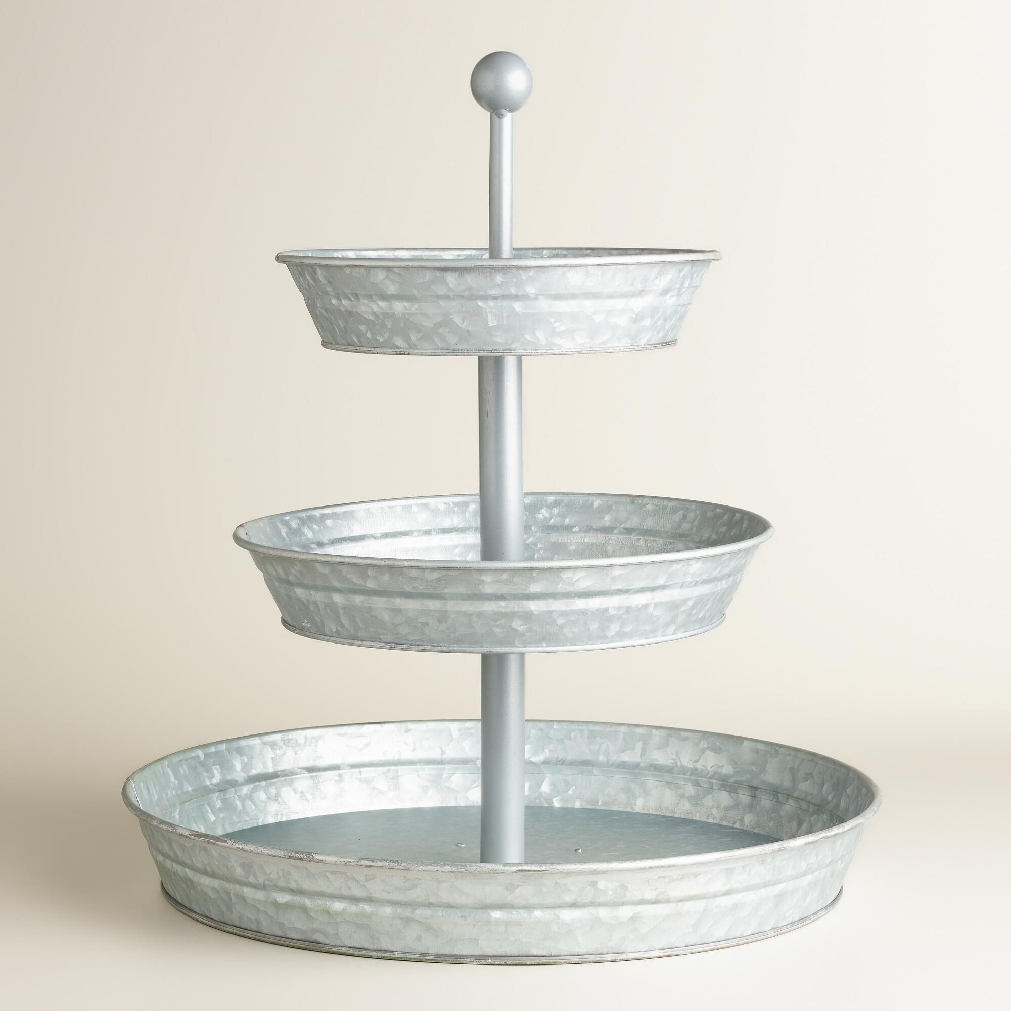 Metal 3 Tier Stand Kitchen Decor Compact And Centerpieces