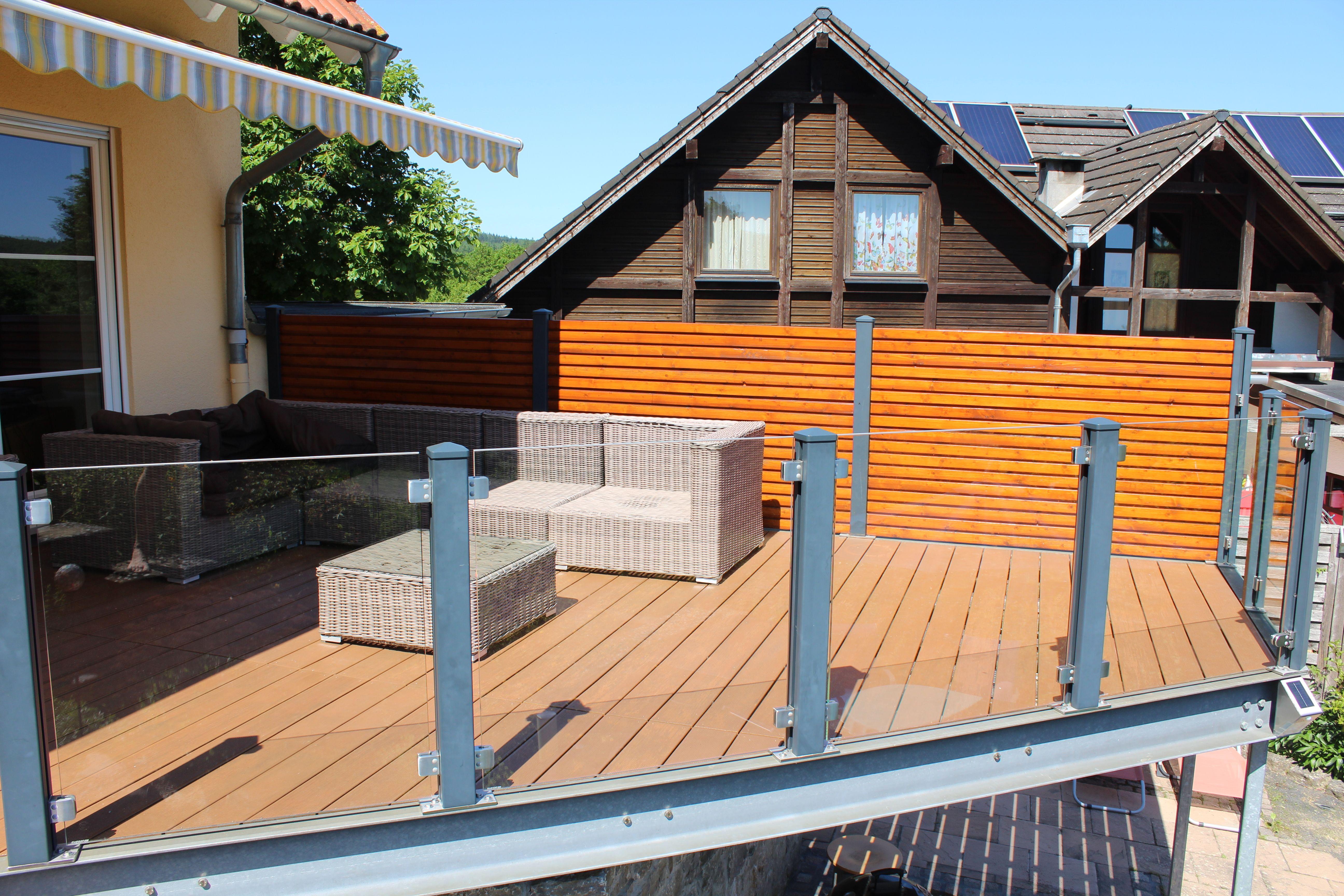 Valu balkon mit unserem einfachen Baukastensystem
