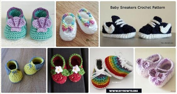 Crochet Baby Booties Slippers For Spring And Crib Walkers Easy