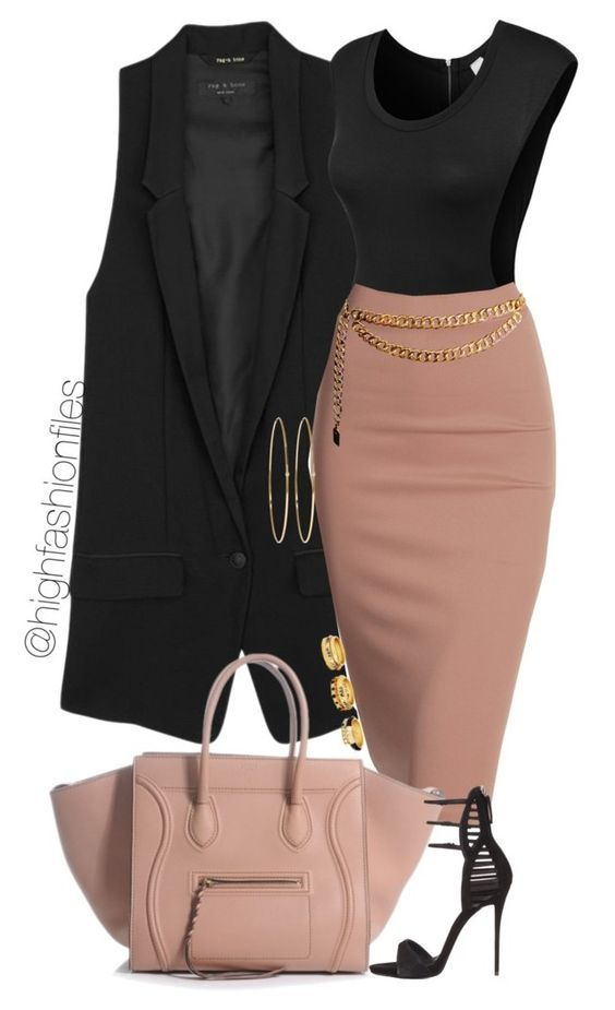 Photo of Long Vest and Pink Pencil Skirt – Pretty Designs
