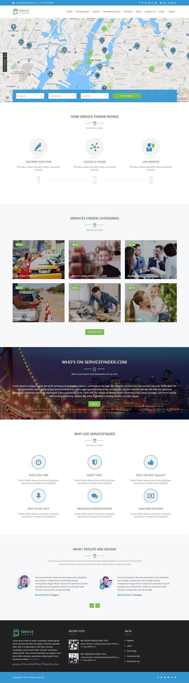 Service Finder - Provider and Business Listing WordPress Theme ...