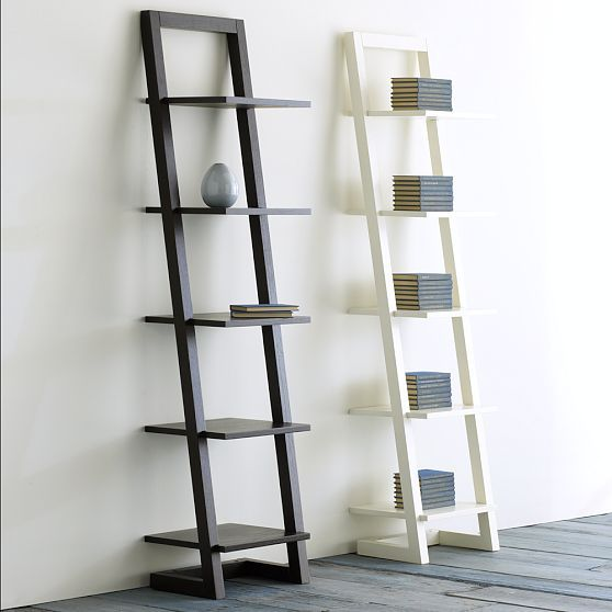 West Elm Apex Tower White Ladder Shelf Shelves Ladder Bookshelf Ikea