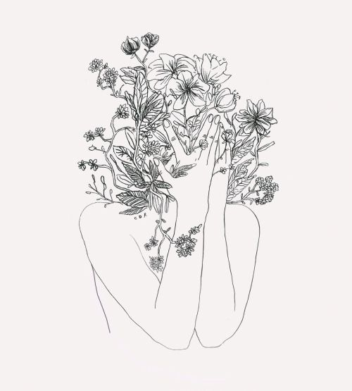 Image result for stalk of flower drawing aesthetic