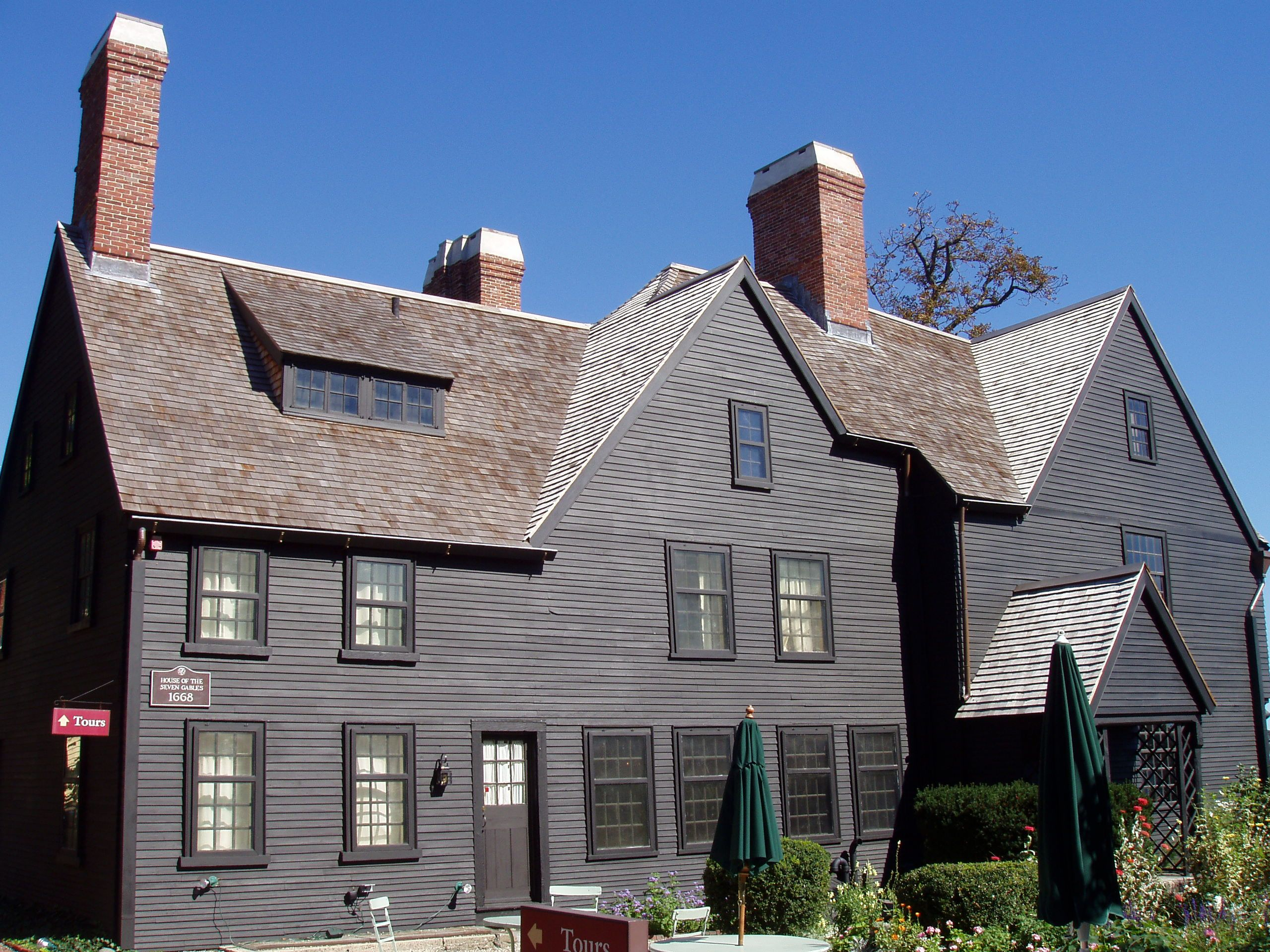 This is the House of Seven Gables, in Salem, MA, where Betsey and Nicola  visit on Halloween. www.caitlynduffy.com