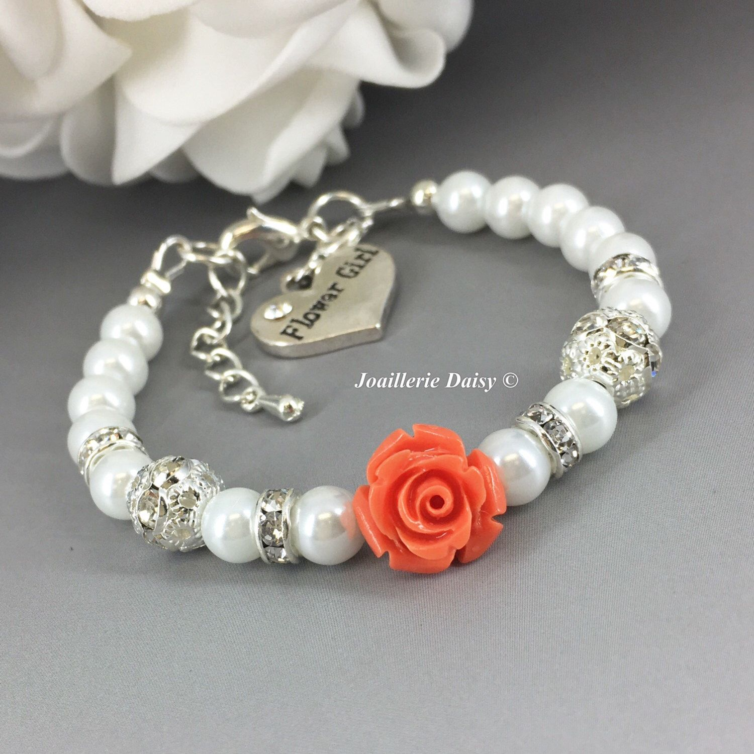 collections jewelry flowergirl wedding design savvy girl bracelet collection flower bridal