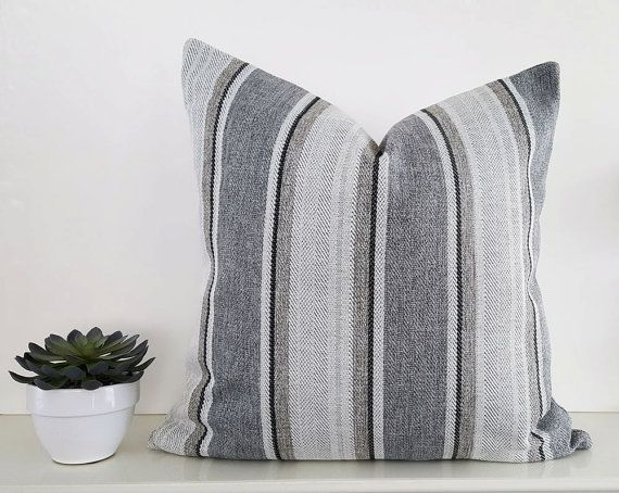 Grey Cream Pillows Grey Striped Pillow Covers Granite