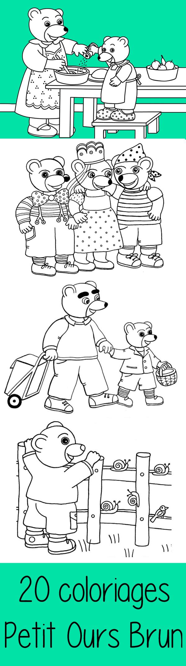 diaporama: 20 coloriages Petit Ours Brun | Petit ours brun, Ours brun et Coloriage enfant