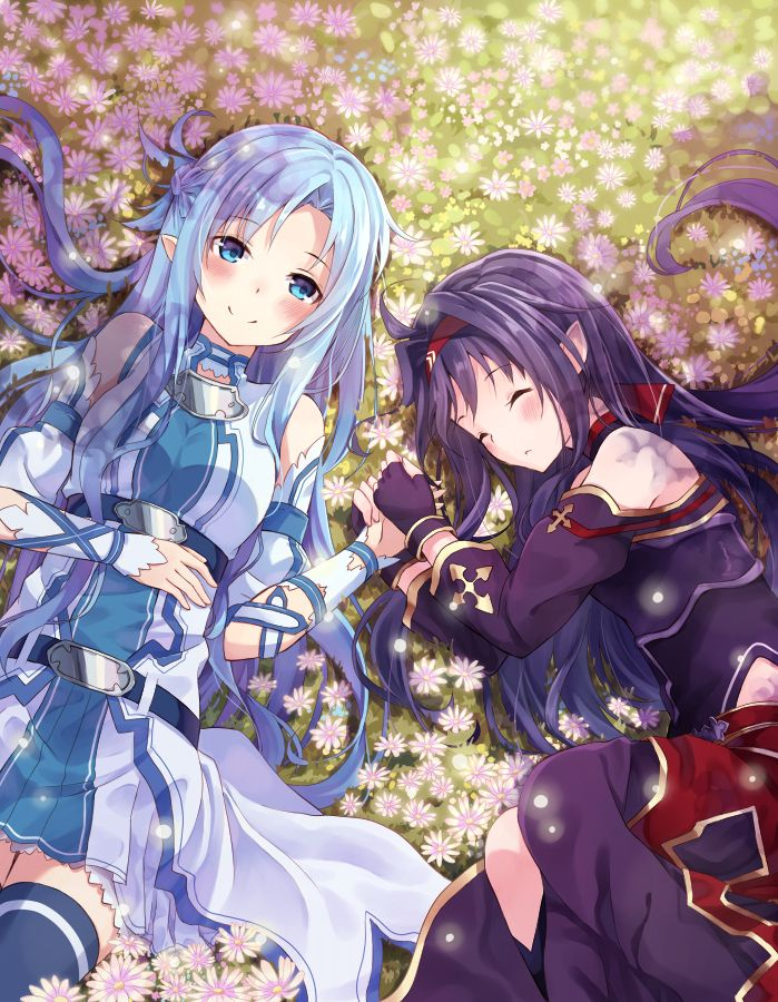 Sword Art Online, Asuna + Yuuki, by nonono* Sword art