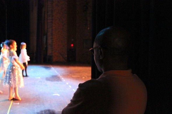 Jimmy Locust in the wings at the Locust Performing Arts Center Recital  (photo credit - Mickela Mallozzi ©2012)