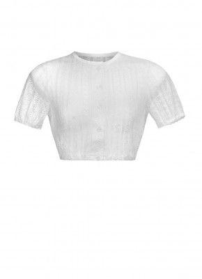 9ac232f13ca565 Bluse Vintage Spitze Rundhals 3/4 Arm | Dirndl | Dirndl bluse, Bluse ...
