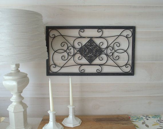 Wrought Iron Metal Wall Decor Black Metal Wall by ...