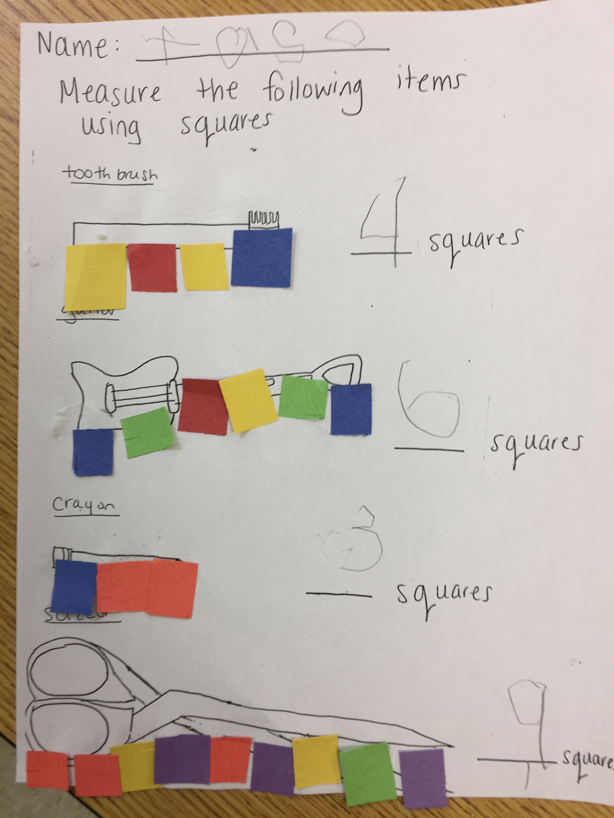 Measuring Using Squares With Images