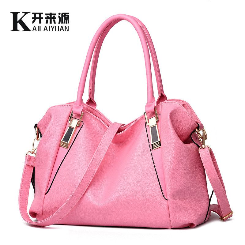 Women Handbags Women Bags PU Leather Handbags Brand Women Shoulder Bags Black