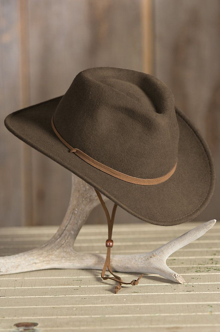 08a0d4115a2 Decatur Crushable Wool Outback Hat by Overland Sheepskin Co. (style 67490)