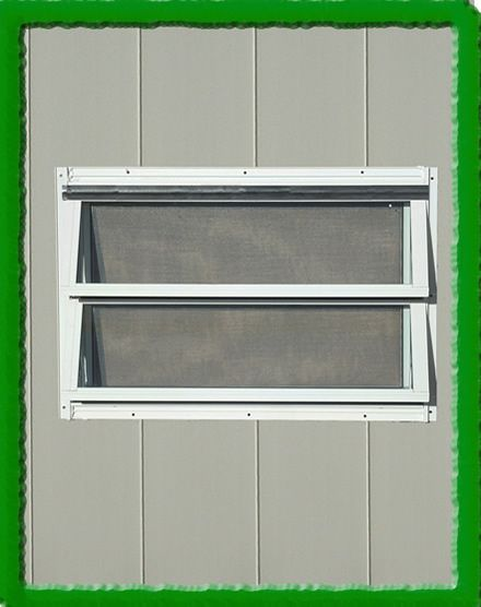 Attrayant Crank Out Backyard Storage Shed Window