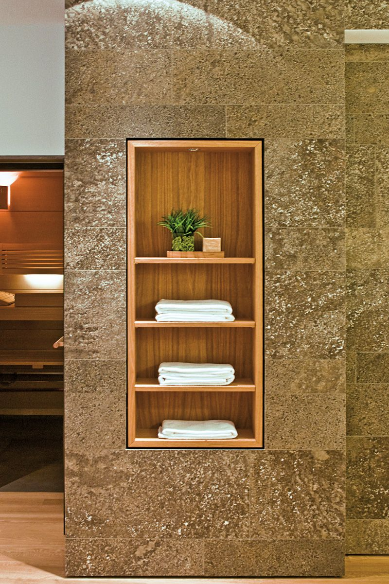 shelving detail in a home for a young family in munich by stephan, Badezimmer ideen