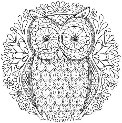 Free Owl Nature Mandala Coloring Page Abstract Coloring Pages