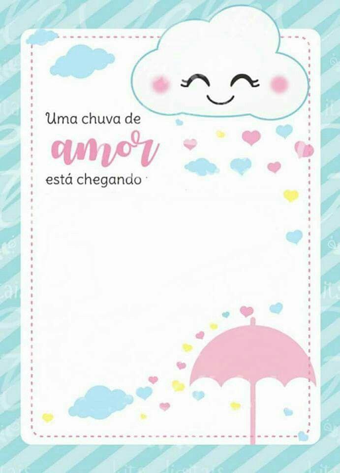 Convite Chuva Amor Chuvas De Bênçãos Pinterest Shower Baby