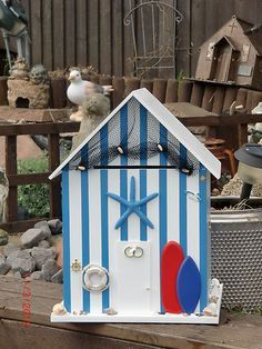 Beach Hut Card Box