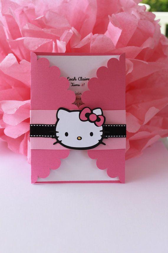 Hello Kitty   FIESTA HOLLYWOOD   Pinterest   Invitaciones para ...