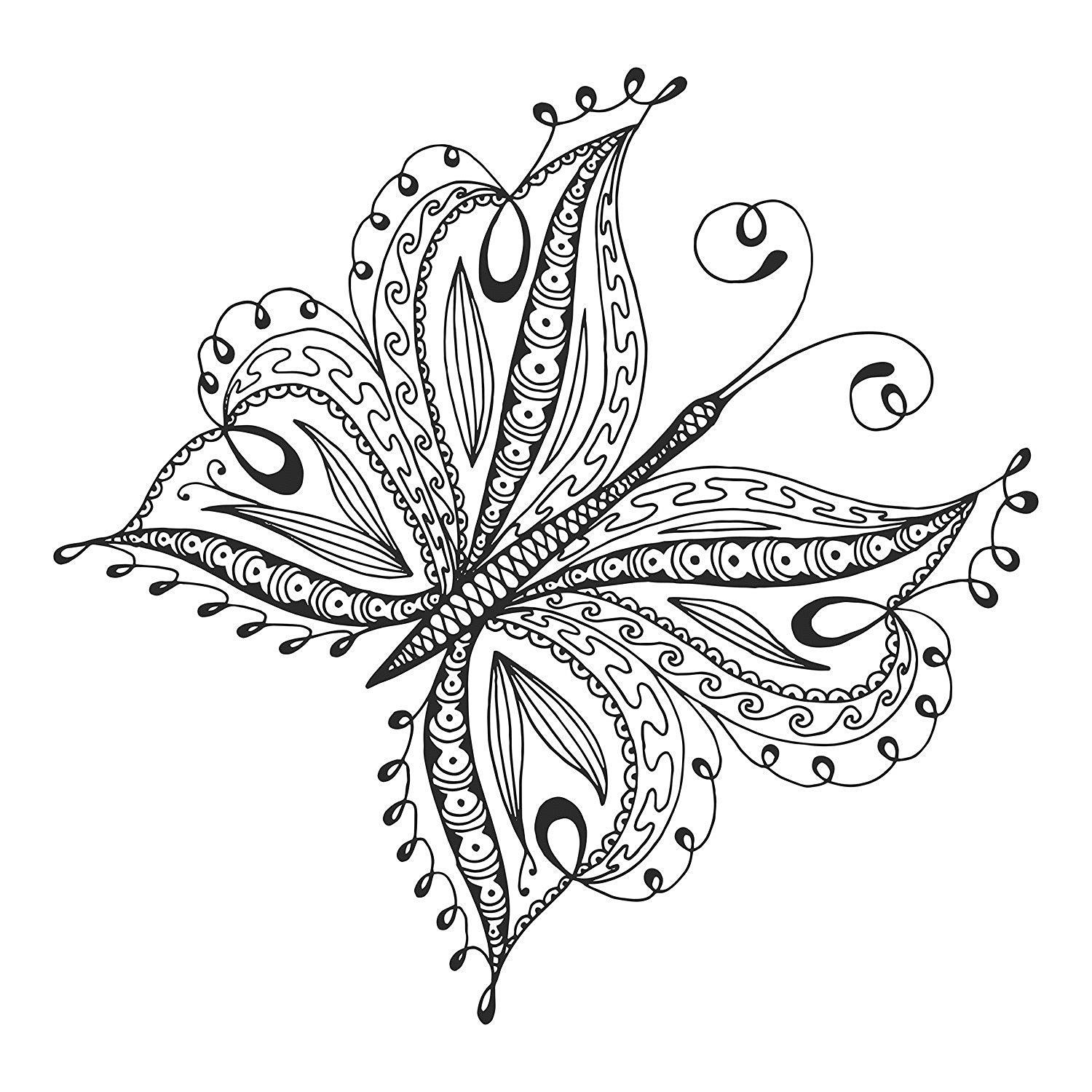 Amazon Com New Nature Stress Relieving Coloring Book For Adults With Coloring Pencils Butterfly Coloring Page Coloring Pages Coloring Books [ 1500 x 1500 Pixel ]