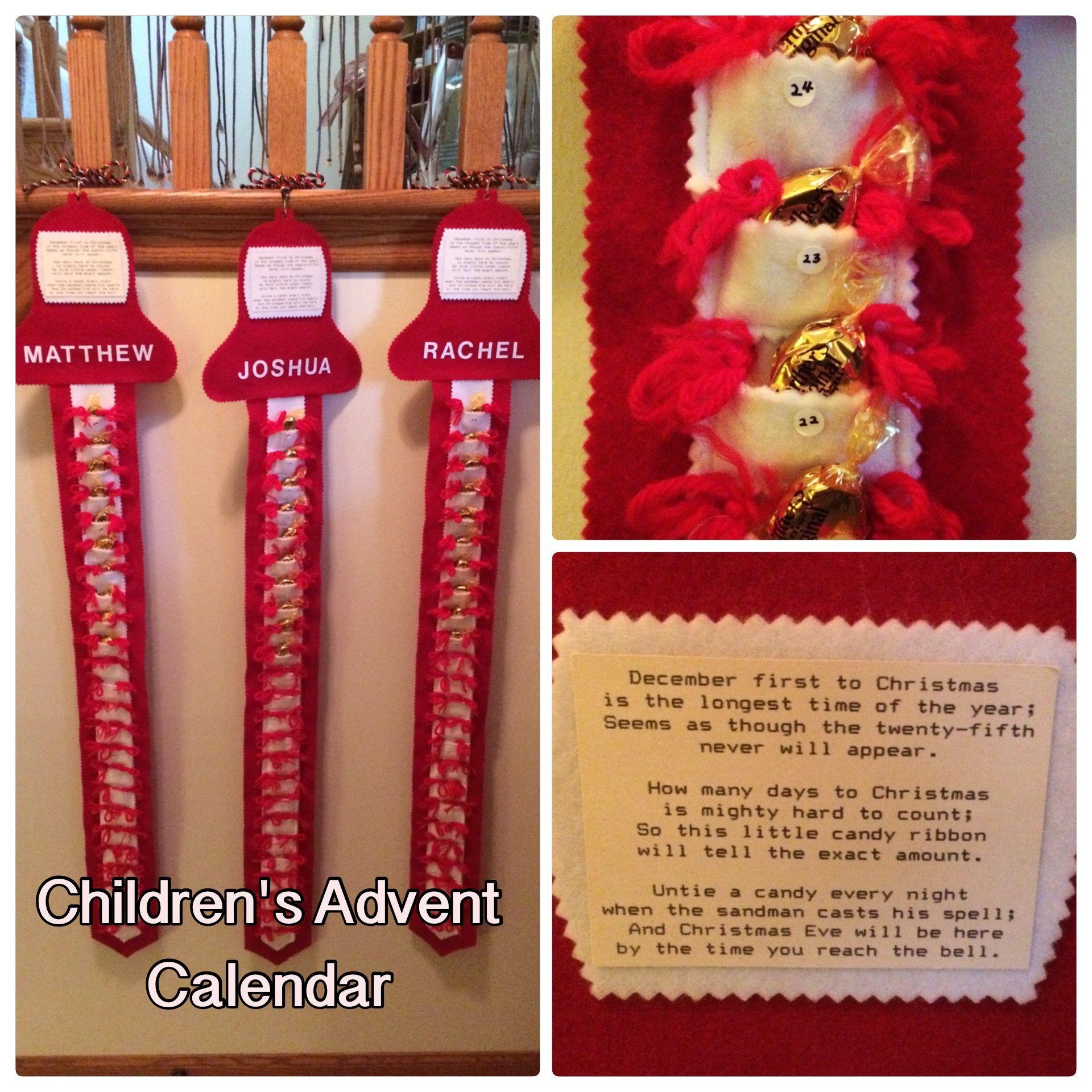 How Long Till Christmas.Children S Advent Calendar An Easy Way To Help Children