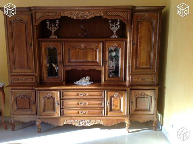 Living salle manger merisier massif 250x200x055 le bon for Coin arredamento