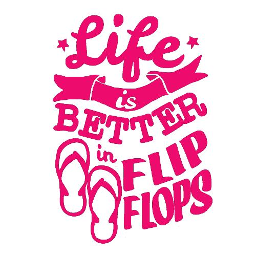 Life Is Better In Flip Flops Decal