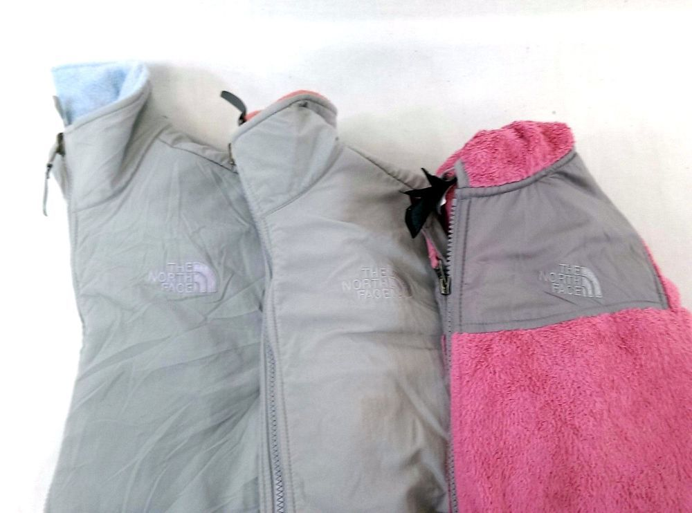 fbe9fe6a7 The North Face Lot of 3 Kids Girls Zip Front Heavy Fleece Jackets ...