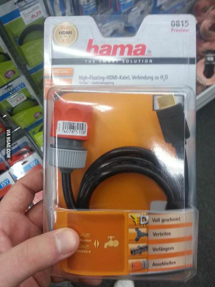 Only In Germany Hdmi To Garden Hose Adapter Hdmi Hose Garden Hose