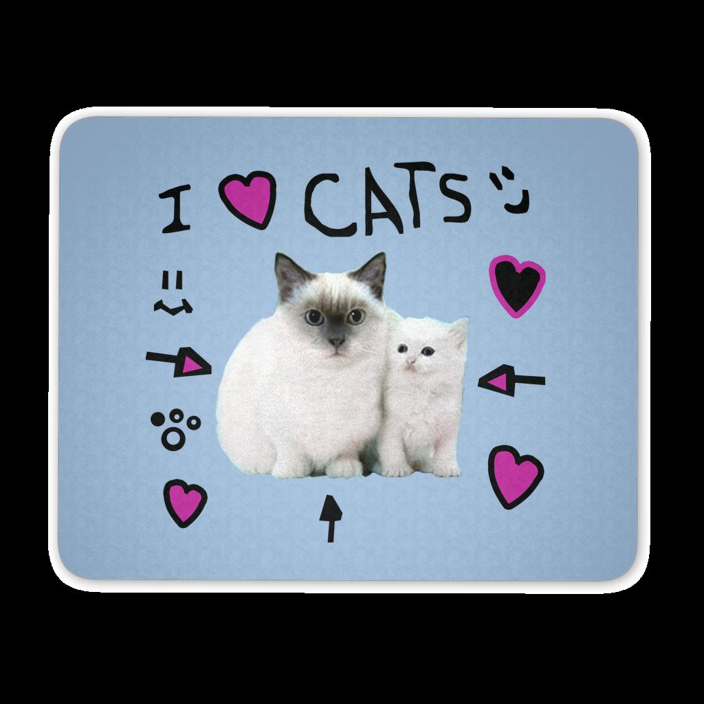 I <3 Cats Mousepad   l a l a~b e d r o o m   Cat pillow, Cat