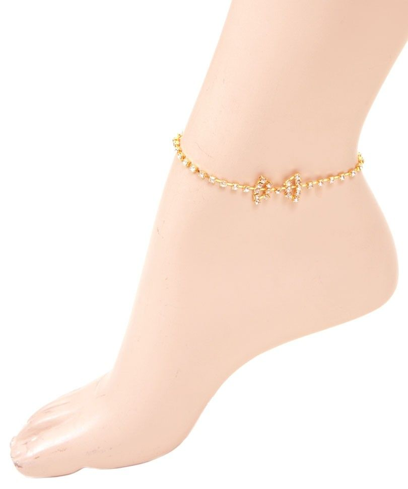 sandals foot gold anklet for zircon beach women jewelry ankle bracelet anklets barefoot summer chain store rose shaped product ankles heart cross elephant steel stainless big