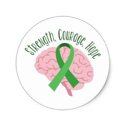 Strength courage hope classic round sticker diy cyo customize create your own personalize