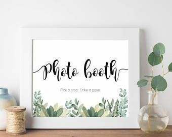 Photo Booth Sign Wedding