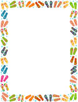Flip Flop Border | Page borders | Pinterest | Clip art ...