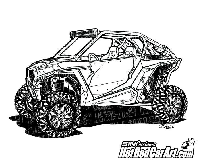 Polaris Rzr Xp1000 Utv Clip Art Cool Car Drawings Creative Drawing Clip Art