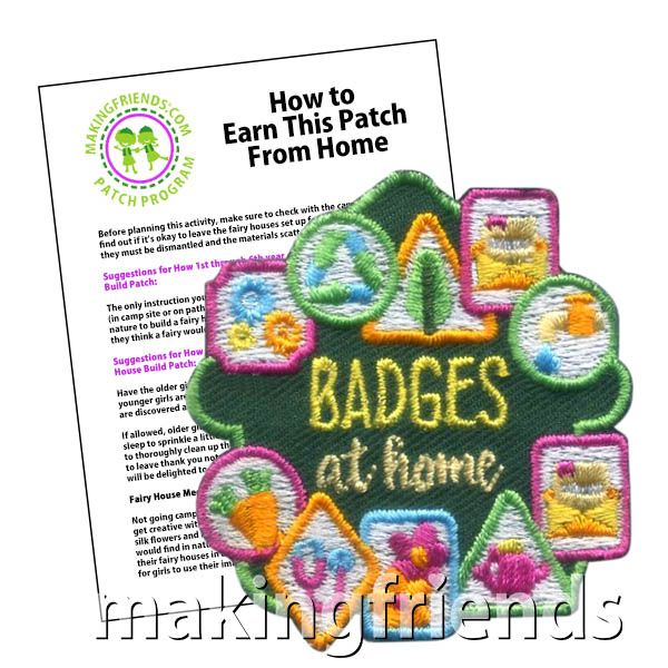 Girl Boy Cub GINGERBREAD HOUSE Blue Fun Patches Crests Badges SCOUT GUIDE making