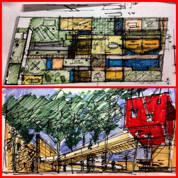 Avanzando y rectificando. Aparece el paseo arquitectónico. Arquitectura y naturaleza. #Padgram