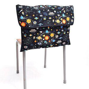 Photo of 防災頭巾カバー スタンダード(背板幅36cmタイプ) 太陽系惑星とコスモプラネタリウム(ブラック) (背もたれ 持ち手付き 椅子カバー 座布団 小学校) :N4727100:COLORFUL CANDY STYLE – 通販 – Yahoo!ショッピング