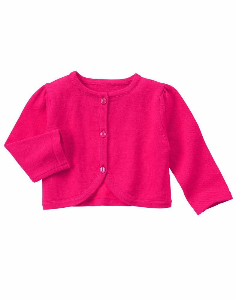 e9783a345 NWT Gymboree Baby Girl SUNSET GLOW Solid Fuchsia Pink Cardigan ...