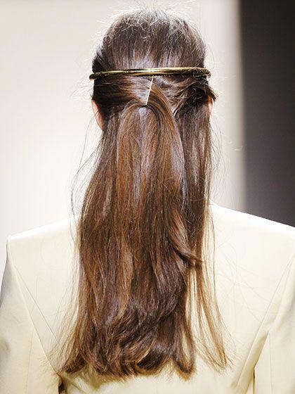 Hair & Makeup Inspiration - Backwards Headband | allure.com