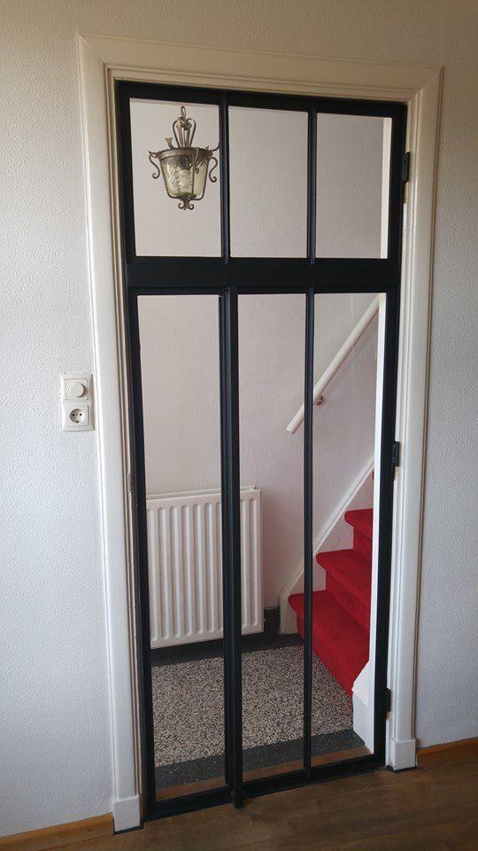Steel door in wooden frame- Steel door in wooden frame St …