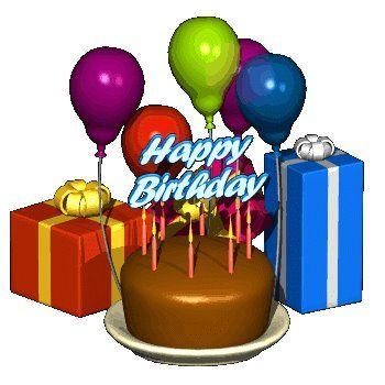 Happy Birthday Cake And Balloons Happy Birthday Cake