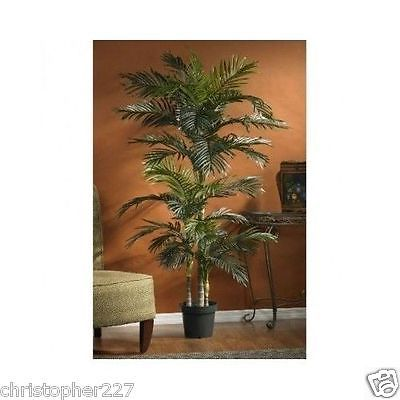 New Indoor 6.5u0027 Artificial Fake Tropical Palm Tree Silk Plant Home Office  Decor