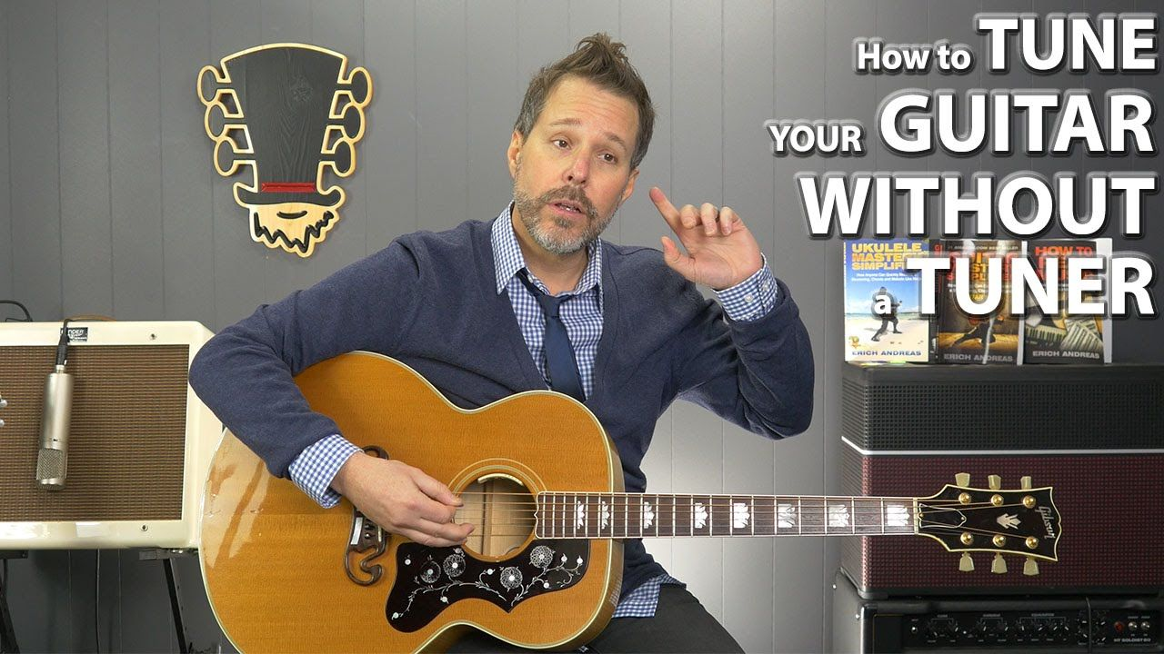 How To Tune Your Guitar Without A Tuner For Beginners Guitar Fretboard Guitar Strumming Guitar Lessons
