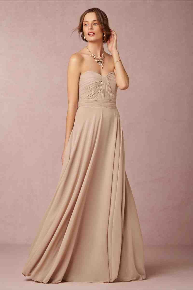Champagne Chiffon Bridesmaid Dresses 1