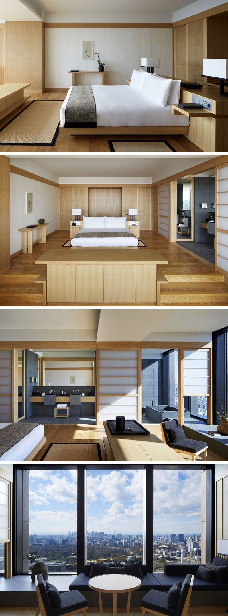 Design Bedroom Apartments Outdoor Style Restaurant Home Wood Slats Decor Small Spaces Apartment Interior Apartment Interior Design Contemporary Interior Design