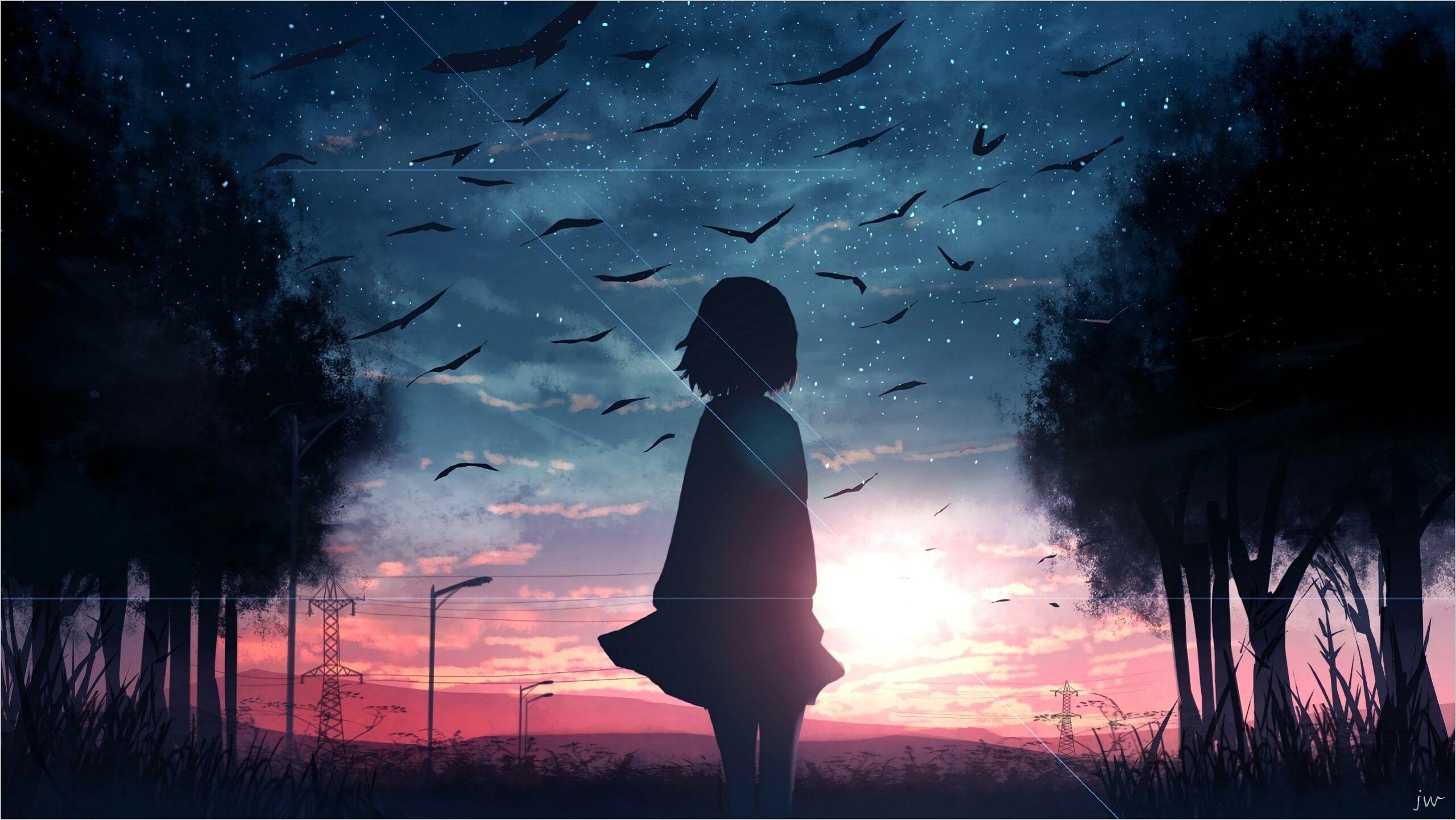 Anime Wallpaper Scenery 4k trong 2020 Phong cảnh, Hình