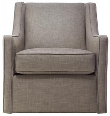 Custom Khloe Upholstered Swivel Chair Glider Living Room