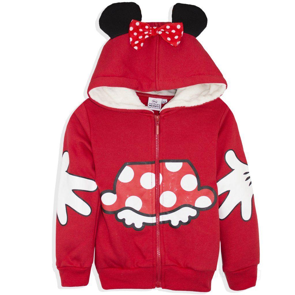 KIDS GIRLS MINNIE MOUSE SWEATSHIRT PINK JUMPER CHILDRENS DISNEY TOP CLOTHES 2-8